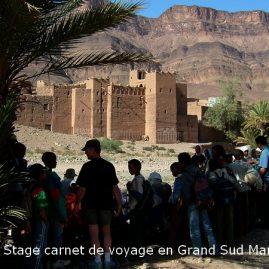 Stage aquarelle - carnet de voyage dans le Grand Sud Alain MARC 2001 Maroc