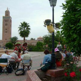 Stage aquarelle - carnet de voyage à Marrakech Alain MARC, Maroc, 2002