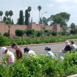 Stage aquarelle - carnet de voyage à Marrakech Alain MARC, Maroc, 2004