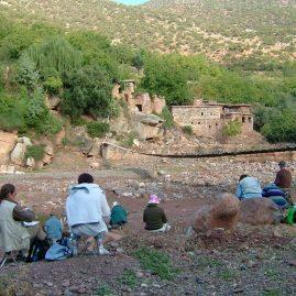 Stage aquarelle - carnet de voyage dans l'Atlas Alain MARC, Maroc, 2005