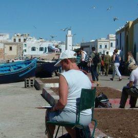 Stage aquarelle - carnet de voyage dans l'Atlas Alain MARC, Maroc 2001