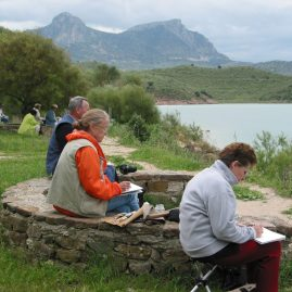 Stage aquarelle - carnet de voyage en Andalousie Alain MARC, 2005