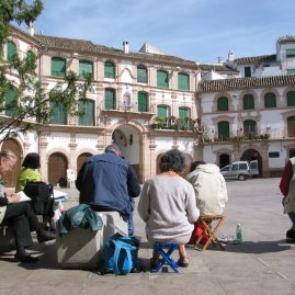Stage aquarelle - carnet de voyage de la route du Califat Alain MARC Andalousie, Espagne, 1997