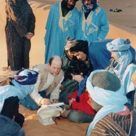 Stage aquarelle - carnet de voyage dans le Grand Sud Alain MARC Merzouga Maroc, 1999
