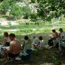 Stage aquarelle dans les Gorges du Tarn, Alain MARC, 2004