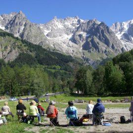 Stage aquarelle hautes vallées de l'Alpe, Alain MARC Italie 2012