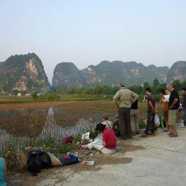 Stage aquarelle de voyage au Vietnam, Alain MARC 2010
