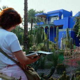 Stage aquarelle carnet de voyage à Marrakech 2003