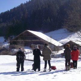 Stage carnet de voyage paysages de neige