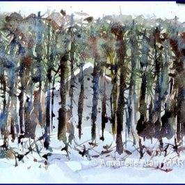 Hors piste nordique et aquarelle de synthèse – épisode 3 : la maison de Blanche-Neige.