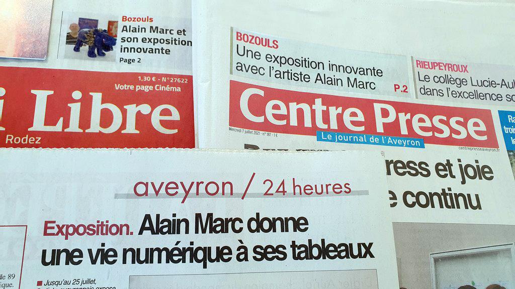 Quelques échos de la presse Exposition Françoise et Alain MARC