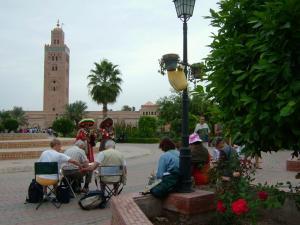 Stage aquarelle - carnet de voyage à Marrakech Alain MARC, Maroc