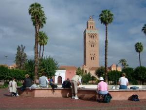 Stage aquarelle - carnet de voyage à Marrakech Alain MARC, Maroc 2001