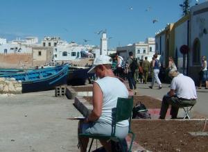 Stage aquarelle - carnet de voyage dans l'Atlas Alain MARC, Maroc