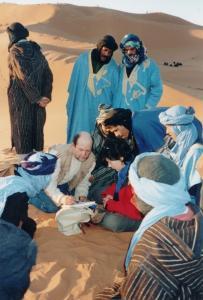 Stage aquarelle - carnet de voyage dans le Grand Sud Alain MARC, Merzouga, Maroc 1999