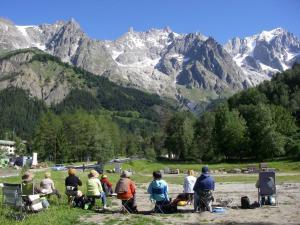 Stage aquarelle hautes vallées de l'Alpe, Alain MARC Italie 2014