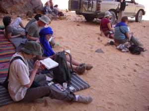 Stage aquarelle - carnet de voyage à Djanet Alain MARC Algérie