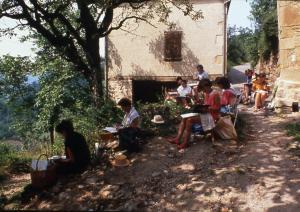 Stage aquarelle en Aveyron, Alain MARC, 2000