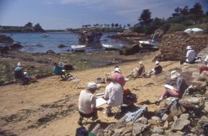 Stage aquarelle sur l'Île de Bréhat 2002