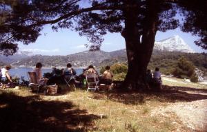 Stage aquarelle en Provence, Alain MARC, 1989