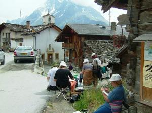 Stage aquarelle de voyage en Valais, Alain MARC, Suisse 1998