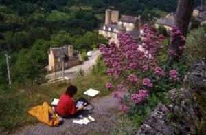 Stage aquarelle en Rouergue, Alain MARC 1998