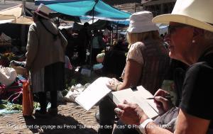 Stage carnet de voyage au Pérou sur la route des Incas, Alain MARC 2014