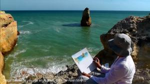 Stage carnet de voyage en Algarve, Alain MARC Portugal 2015