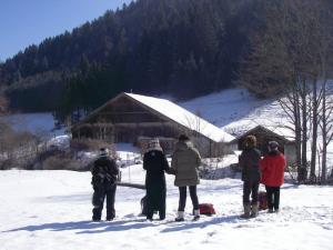 Stage carnet de voyage paysages de neige Alain MARC